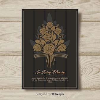 Plantilla de tarjeta fúnebre