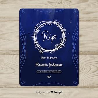 Plantilla de tarjeta de funerales