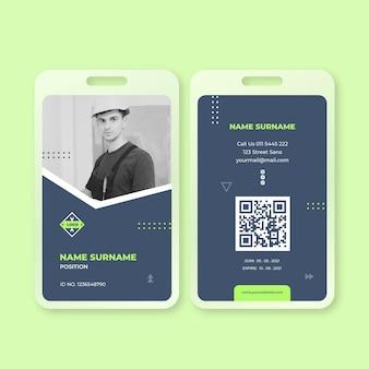 Plantilla de tarjeta de identidad de electricista