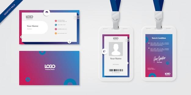 Plantilla de tarjeta de identidad y tarjeta de visita.