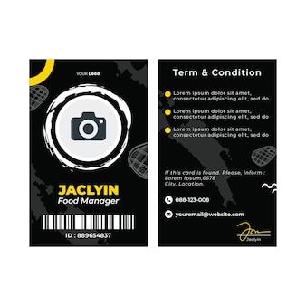 Plantilla de tarjeta de identificación de barbacoa