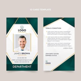 Plantilla de tarjeta de identificación de bienes raíces degradada