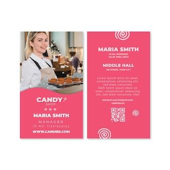 Plantilla de tarjeta de identificación de caramelo