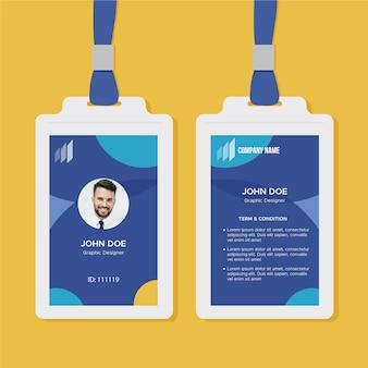 Plantilla de tarjeta de identificación comercial con foto