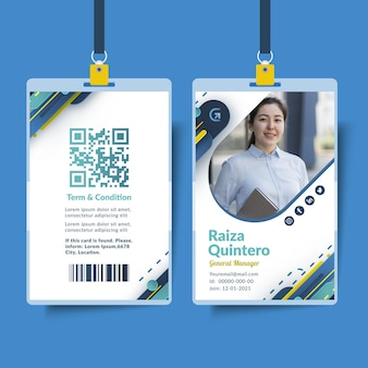 Plantilla de tarjeta de identificación comercial general
