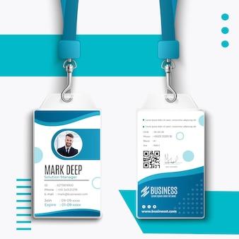 Plantilla de tarjeta de identificación comercial inteligente