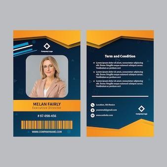Plantilla de tarjeta de identificación comercial