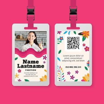 Plantilla de tarjeta de identificación de comida mexicana