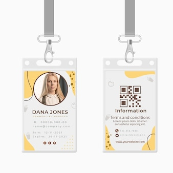 Plantilla de tarjeta de identificación de cookies