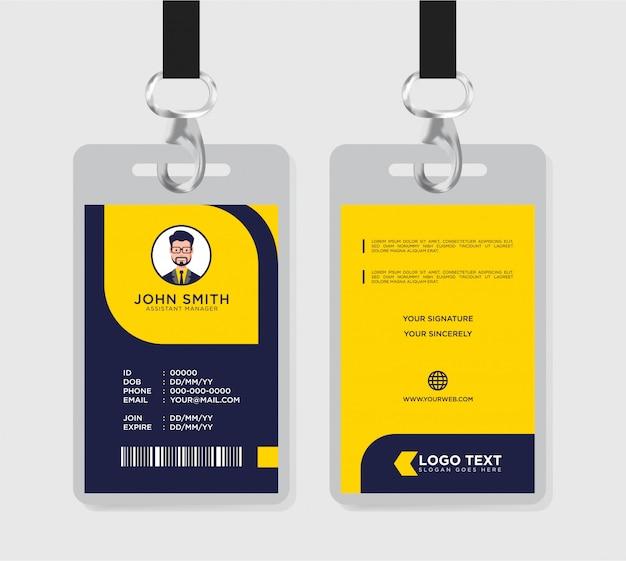 Plantilla de tarjeta de identificación creativa