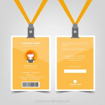 Plantilla de tarjeta de identificación con estilo abstracto