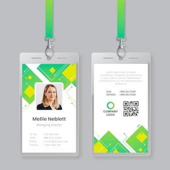 Plantilla de tarjeta de identificación con foto