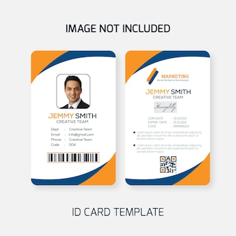 Plantilla de tarjeta de identificación de office