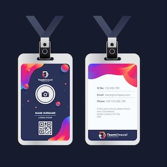 Plantilla de tarjeta de identificación de la oficina de negocios corporativos