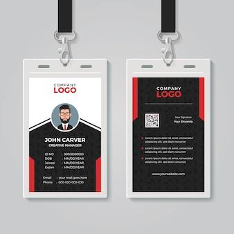 Plantilla de tarjeta de identificación profesional