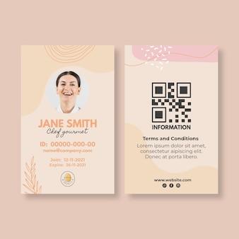 Plantilla de tarjeta de identificación de restaurante brunch