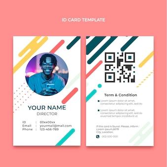 Plantilla de tarjeta de identificación de tecnología mínima plana