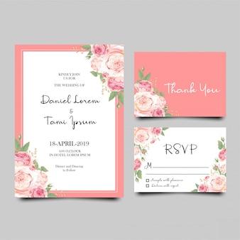 Plantilla de tarjeta de invitación de boda moderna