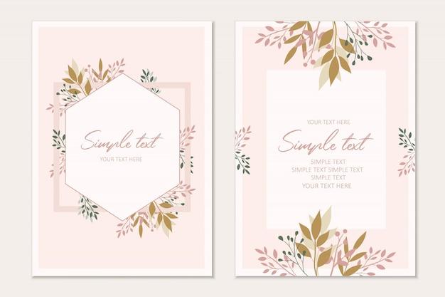 Plantilla de tarjeta de invitación botánica