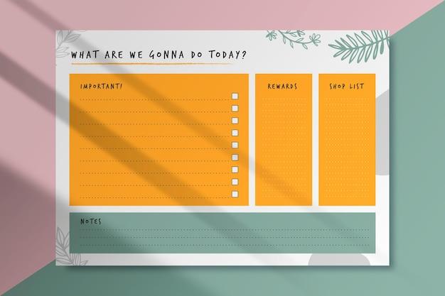 Plantilla de tarjeta de lista de tareas