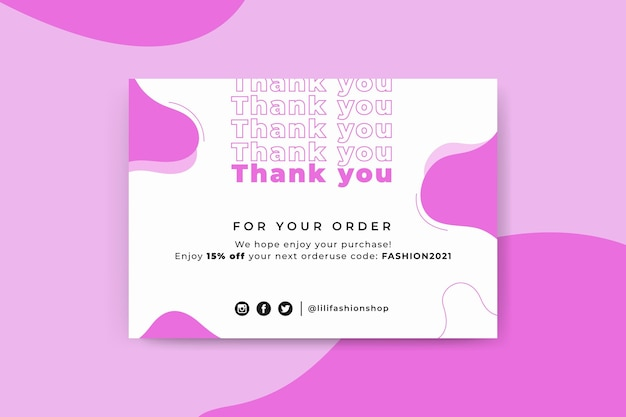 Plantilla de tarjeta de moda monocolor abstracta
