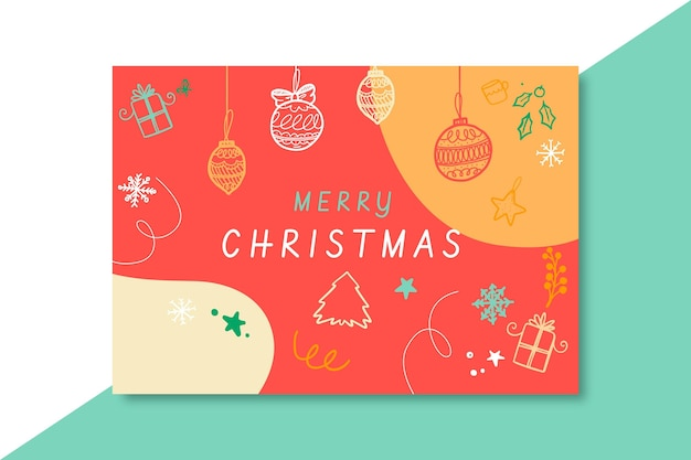 Plantilla de tarjeta de navidad festiva