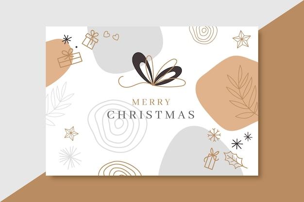 Plantilla de tarjeta de navidad minimalista