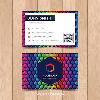 Plantilla de tarjeta de negocio colorida
