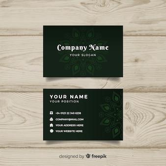 Plantilla de tarjeta de negocio con mandala