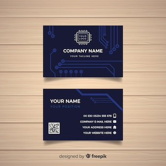 Plantilla de tarjeta de negocio tecnológica