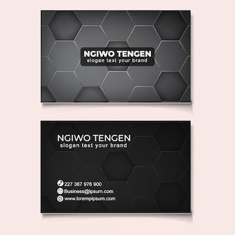 Plantilla de tarjeta de negocios abstracta de moda moderna
