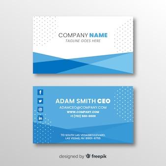 Plantilla tarjeta de negocios diseño plano