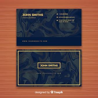 Plantilla de tarjeta de negocios elegante