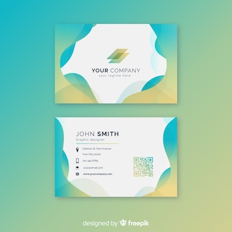 Plantilla tarjeta de negocios formas abstractas