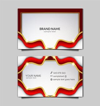 Plantilla de tarjeta de negocios de independencia de indonesia de lujo vector gratuito
