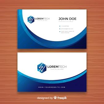 Plantilla de tarjeta de negocios tecnológica