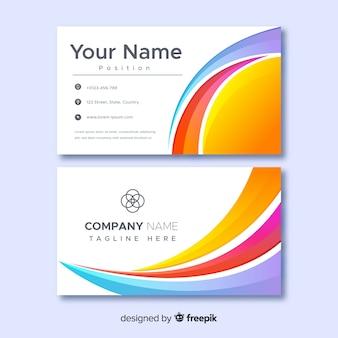 Plantilla de tarjeta de nombre de empresa comercial abstracta
