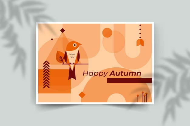 Plantilla de tarjeta de otoño