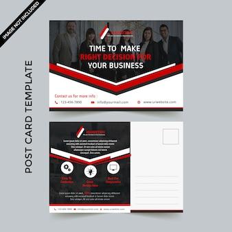 Plantilla de tarjeta postal comercial