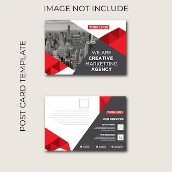 Plantilla de tarjeta postal creativa