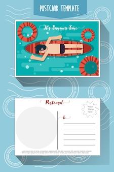 Plantilla de tarjeta postal