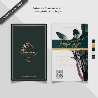 Plantilla de tarjeta de presentación botánica