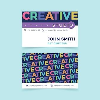 Plantilla de tarjeta de presentación creativa de diseño gráfico