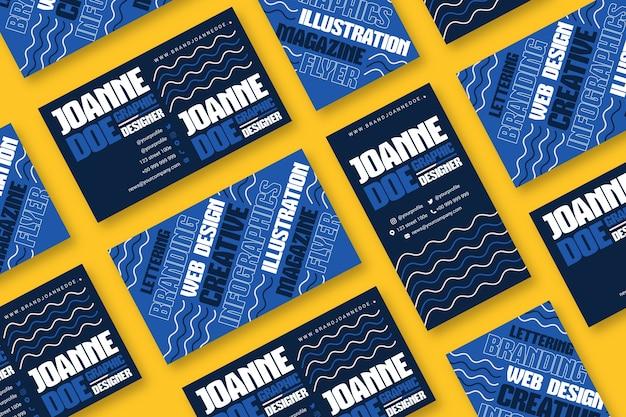 Plantilla de tarjeta de presentación de diseñador creativo