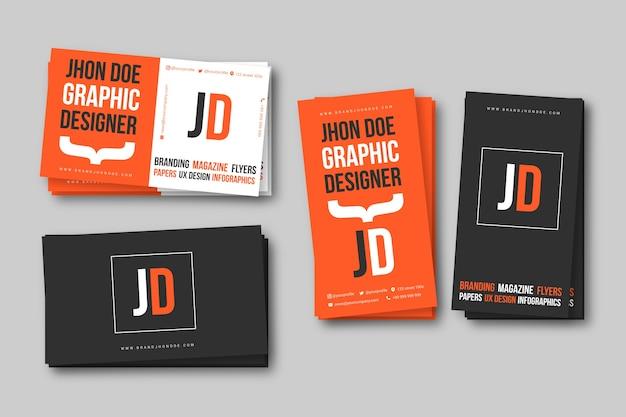 Plantilla de tarjeta de presentación de diseñador gráfico