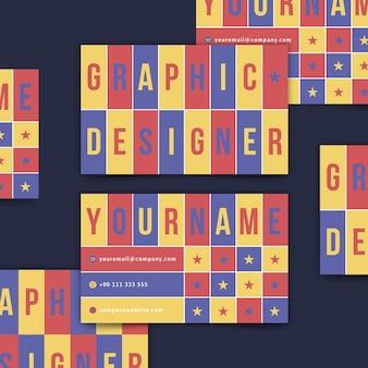 Plantilla de tarjeta de presentación para diseñador gráfico