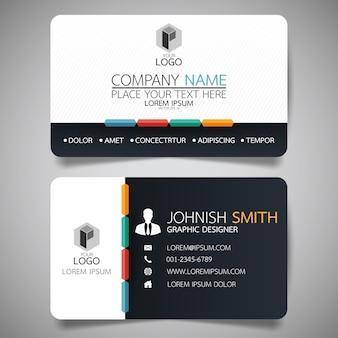 Plantilla de tarjeta de presentación de diseño blanco y negro.