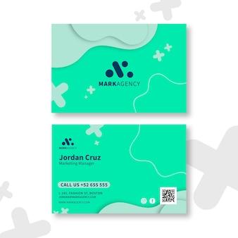 Plantilla de tarjeta de presentación de marketing