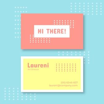 Plantilla de tarjeta de presentación simple