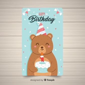 Plantilla de tarjeta del primer cumpleaños